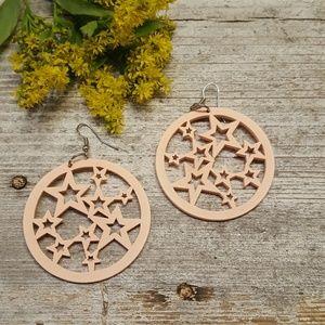 Jewelry - Laser Cut Wood Earrings